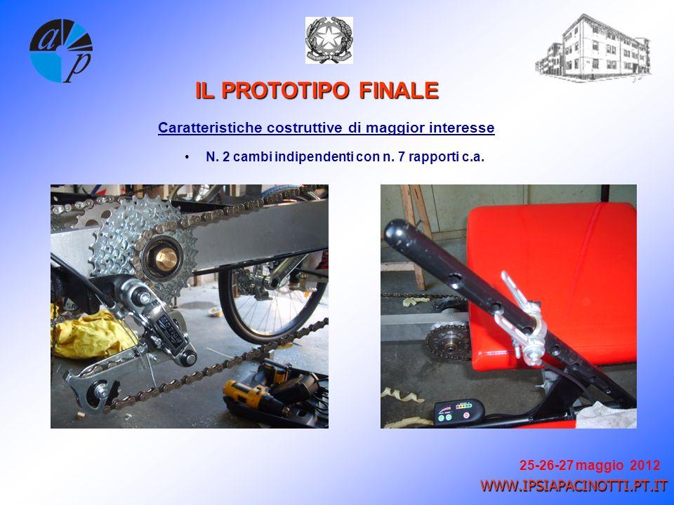 25-26-27 maggio 2012 WWW.IPSIAPACINOTTI.PT.IT Caratteristiche costruttive di maggior interesse IL PROTOTIPO FINALE N.
