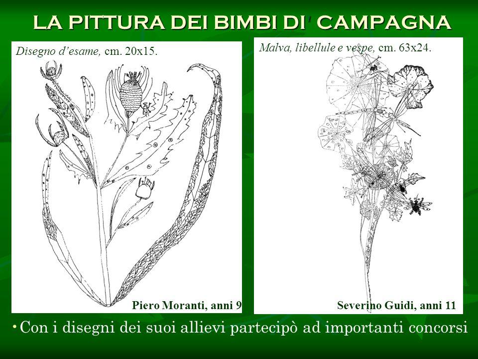 Con i disegni dei suoi allievi partecipò ad importanti concorsi LA PITTURA DEI BIMBI DI' CAMPAGNA LA PITTURA DEI BIMBI DI' CAMPAGNA Malva, libellule e