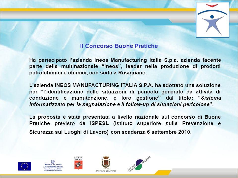 Il Concorso Buone Pratiche Ha partecipato lazienda Ineos Manufacturing Italia S.p.a.