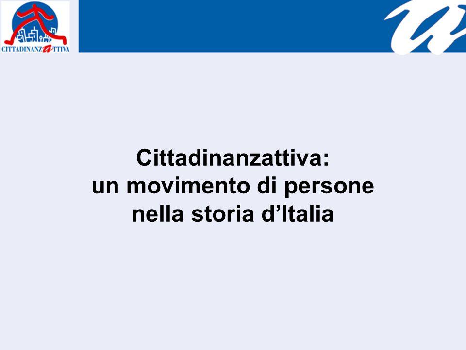 Cittadinanzattiva: un movimento di persone nella storia dItalia
