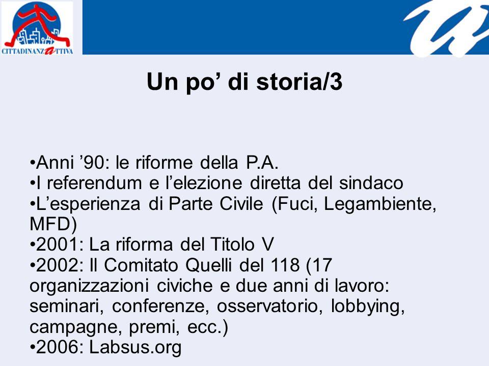Un po di storia/3 Anni 90: le riforme della P.A.