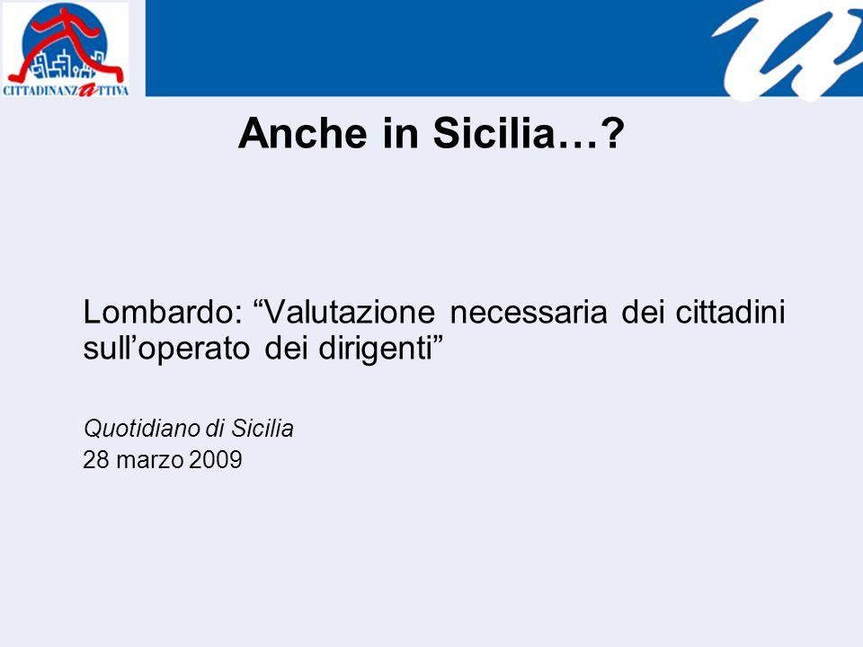 Anche in Sicilia….