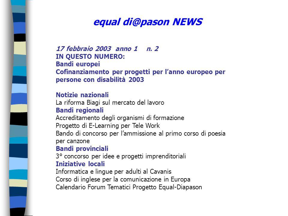 17 febbraio 2003 anno 1 n.