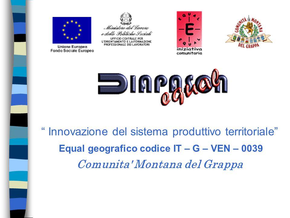 Innovazione del sistema produttivo territoriale Equal geografico codice IT – G – VEN – 0039 Comunita Montana del Grappa