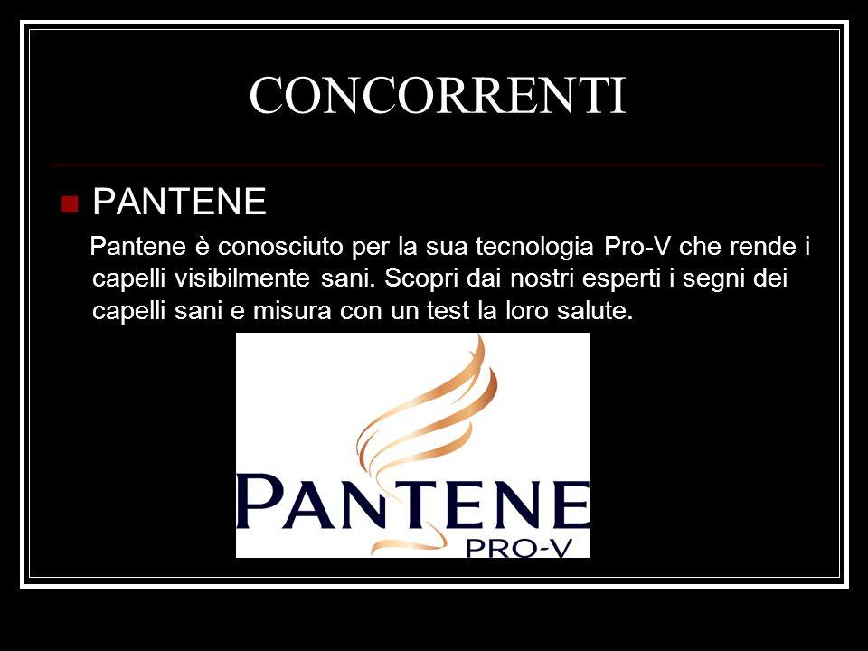 CONCORRENTI PANTENE Pantene è conosciuto per la sua tecnologia Pro-V che rende i capelli visibilmente sani. Scopri dai nostri esperti i segni dei cape