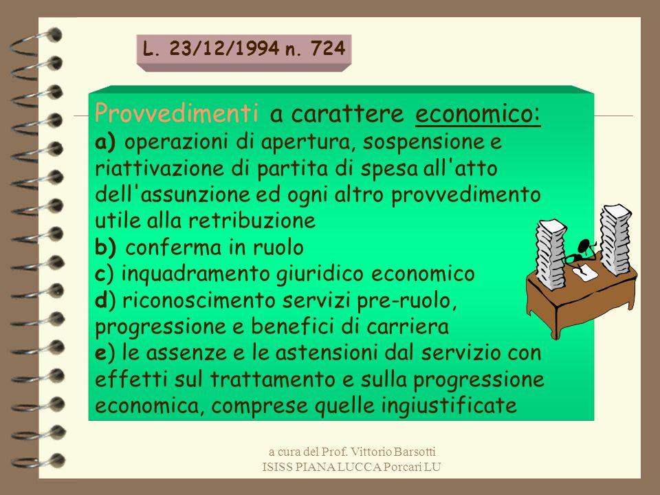 a cura del Prof. Vittorio Barsotti ISISS PIANA LUCCA Porcari LU Provvedimenti a carattere economico: a) operazioni di apertura, sospensione e riattiva