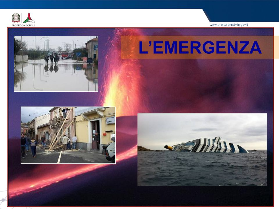 www.protezionecivile.gov.it LEMERGENZA