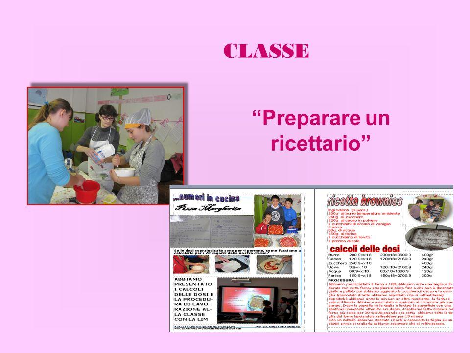 Preparare un ricettario CLASSE