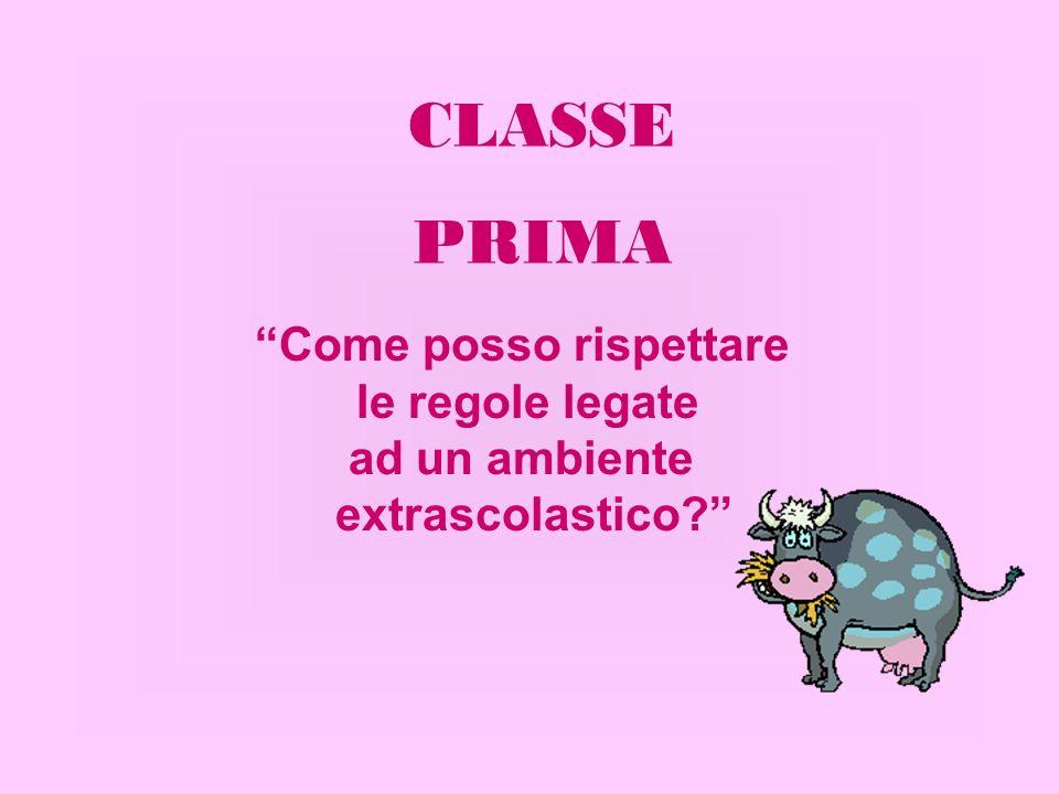 Come posso rispettare le regole legate ad un ambiente extrascolastico? CLASSE PRIMA