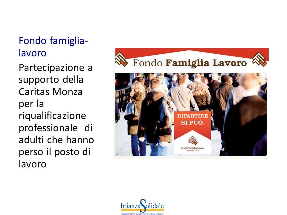 Fondo famiglia- lavoro Partecipazione a supporto della Caritas Monza per la riqualificazione professionale di adulti che hanno perso il posto di lavor