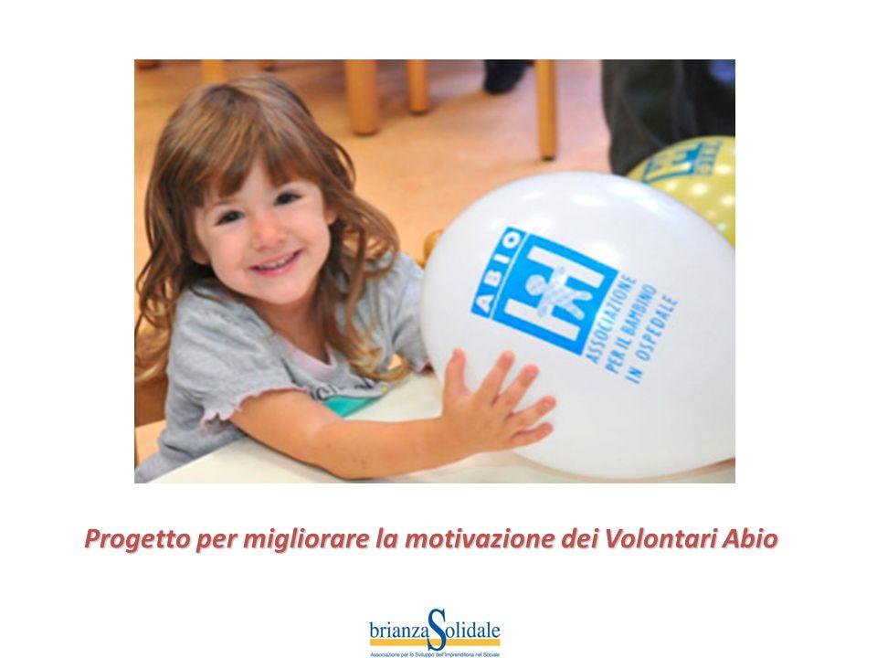 Progetto per migliorare la motivazione dei Volontari Abio