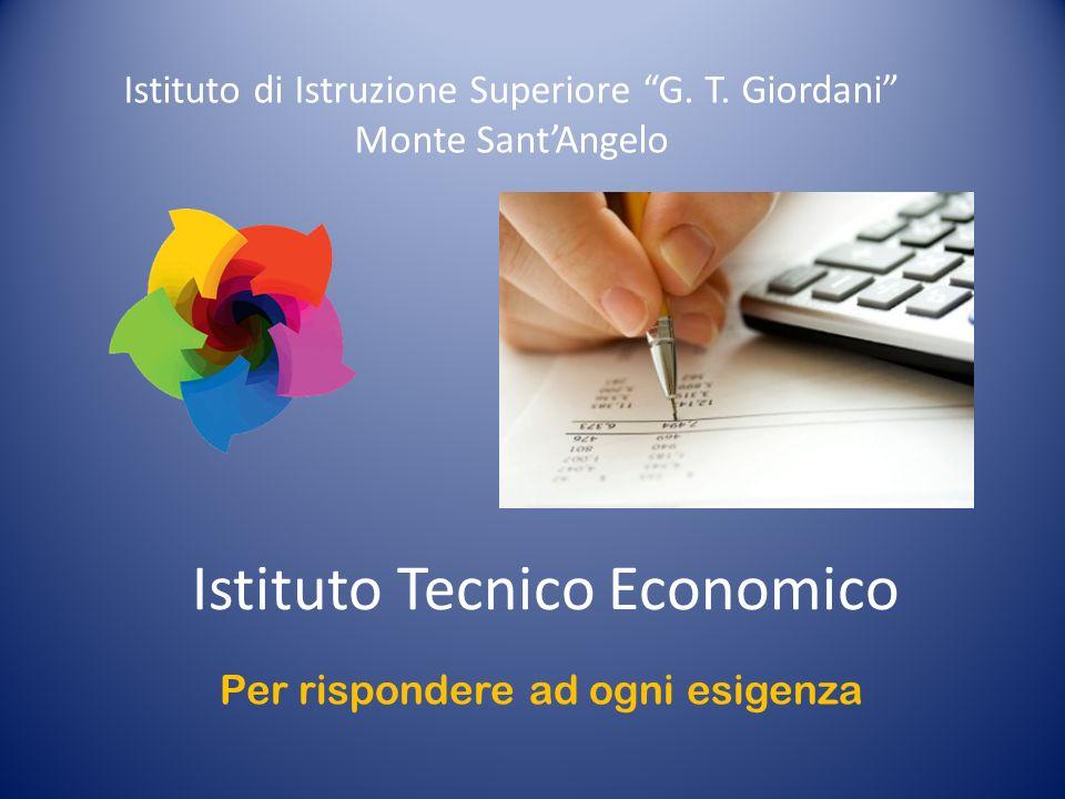 Istituto Tecnico Economico Istituto di Istruzione Superiore G.