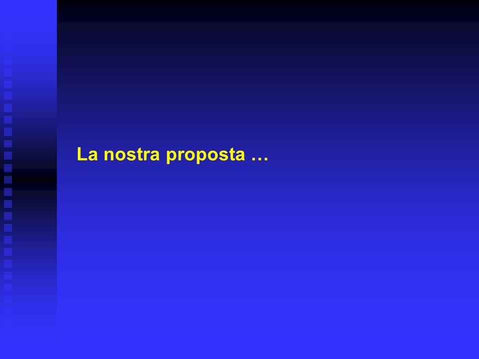 La nostra proposta …