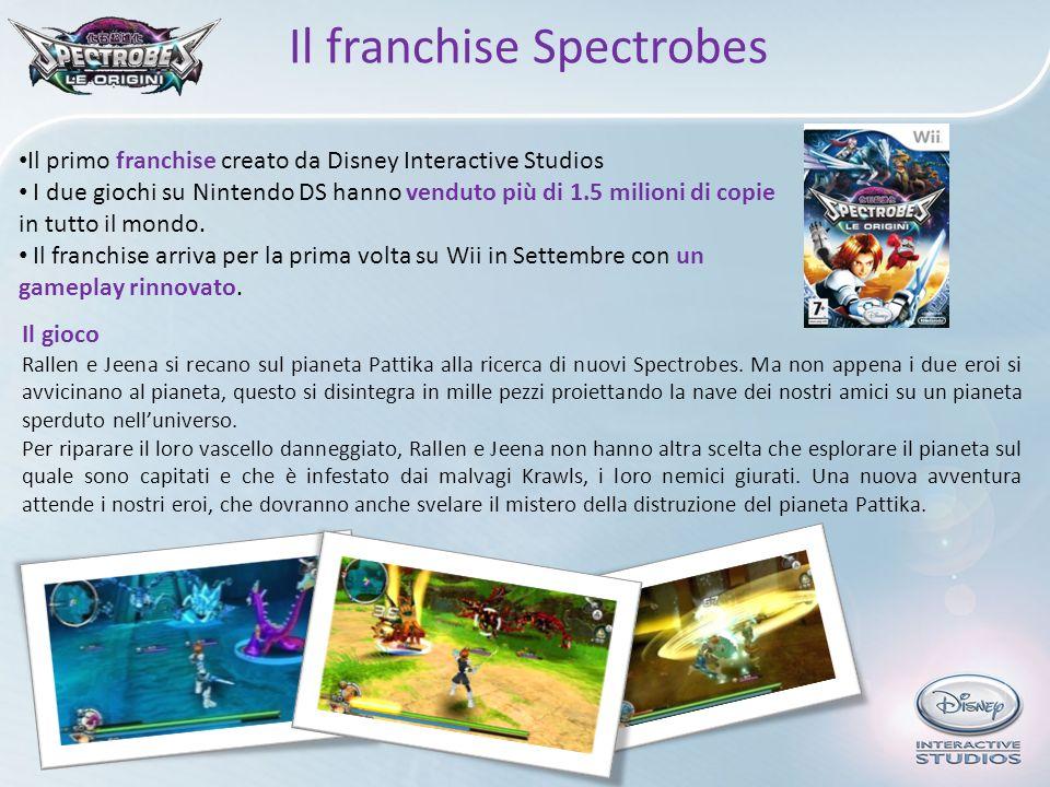 Il primo franchise creato da Disney Interactive Studios I due giochi su Nintendo DS hanno venduto più di 1.5 milioni di copie in tutto il mondo. Il fr