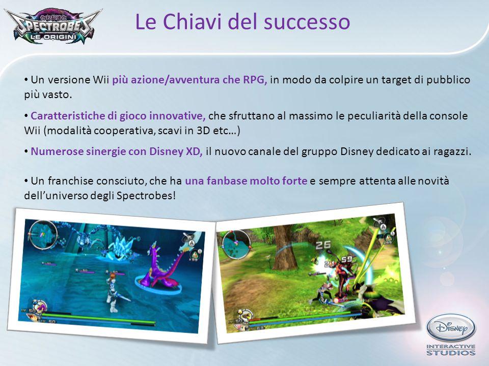 Le Chiavi del successo Un versione Wii più azione/avventura che RPG, in modo da colpire un target di pubblico più vasto. Caratteristiche di gioco inno