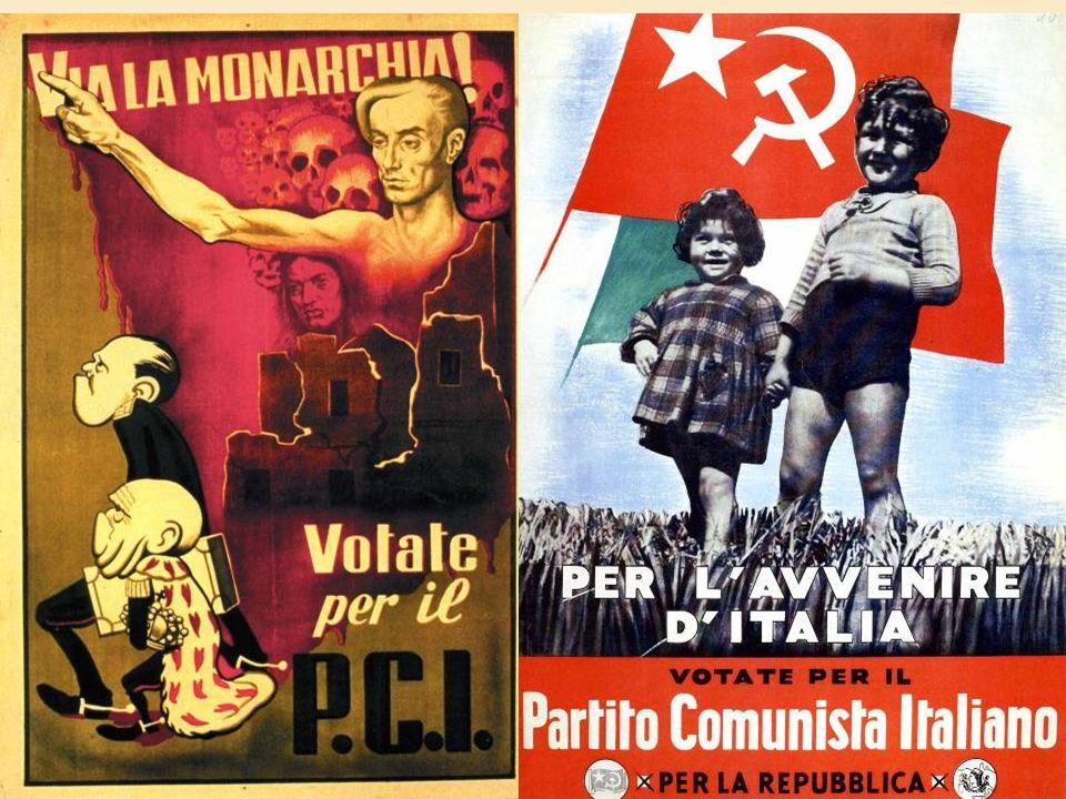 I PARTITI ANTIFASCISTI DEL DOPOGUERRA PCI= PARTITO COMUNISTA ITALIANO