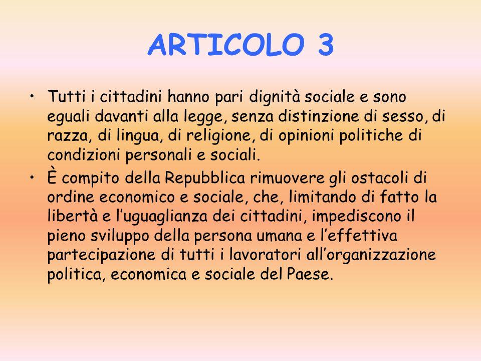 ARTICOLO 2 La Repubblica riconosce e garantisce i diritti inviolabili dell uomo, sia come singolo, sia nelle formazioni sociali ove si svolge la sua p