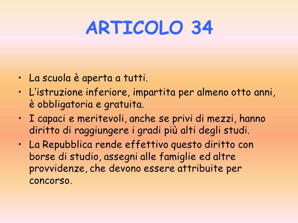 ARTICOLO 4 La Repubblica riconosce a tutti i cittadini il diritto al lavoro e promuove le condizioni che rendono effettivo questo diritto. Ogni cittad