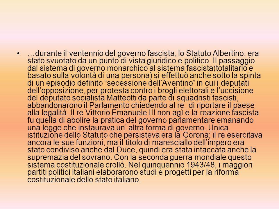 Statuto Albertino articoli principali Art. 1=la Religione Cattolica, Apostolica Romana è la sola religione dello Stato. Gli altri culti ora esistenti