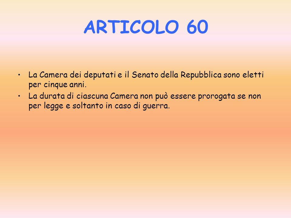 ARTICOLO 58 I senatori sono eletti a suffragio universale e diretto dagli elettori che hanno superato il venticinquesimo anno di età. Sono eleggibili