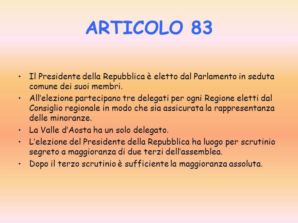 ARTICOLO 60 La Camera dei deputati e il Senato della Repubblica sono eletti per cinque anni.