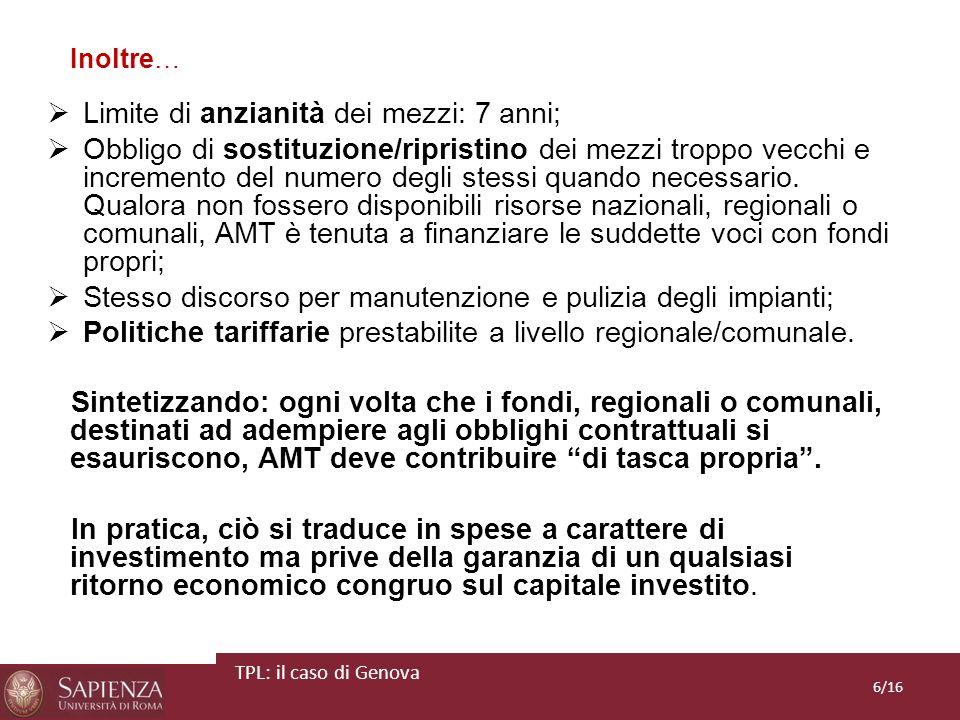 SISTEMA DI FINANZIAMENTO Ddl 288/12 art.1 comma 301: il Fondo per il finanziamento del TPL stanzia 1,2 mld di a decorrere dal 2012.