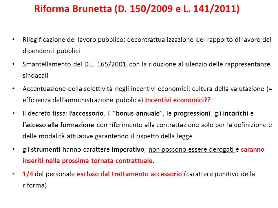 Rilegificazione del lavoro pubblico: decontrattualizzazione del rapporto di lavoro dei dipendenti pubblici Smantellamento del D.L. 165/2001, con la ri