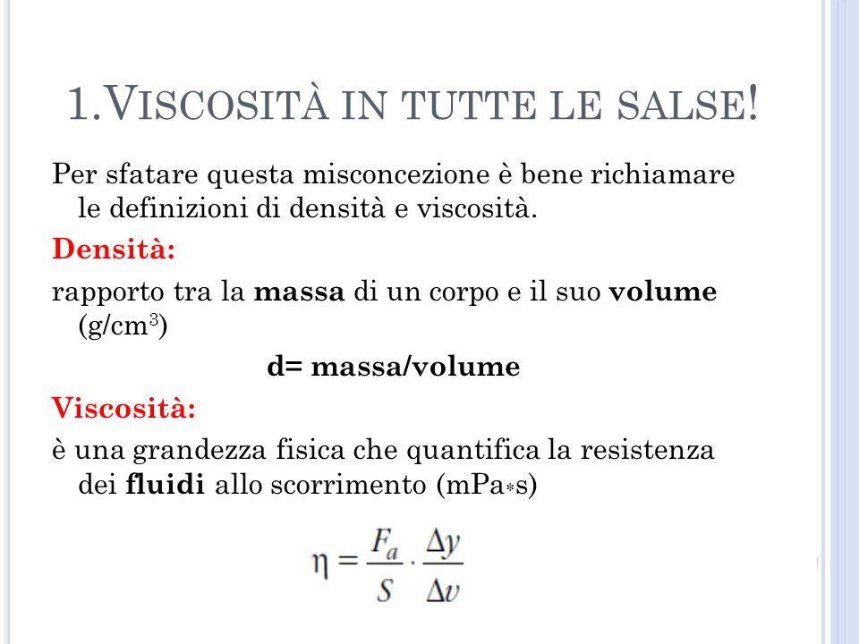 Per sfatare questa misconcezione è bene richiamare le definizioni di densità e viscosità. Densità: rapporto tra la massa di un corpo e il suo volume (