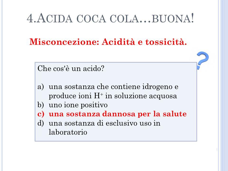 4.A CIDA COCA COLA … BUONA .Che cos è un acido.
