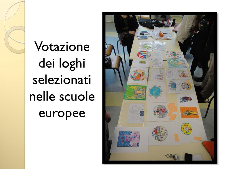 Votazione dei loghi selezionati nelle scuole europee