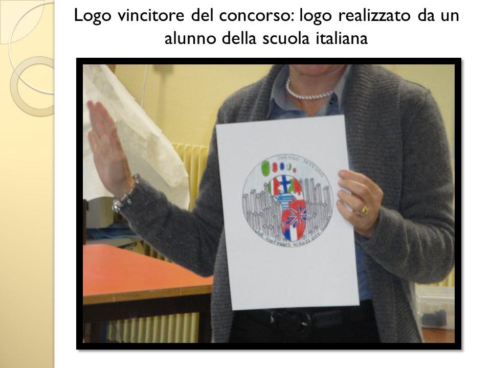 Logo vincitore del concorso: logo realizzato da un alunno della scuola italiana