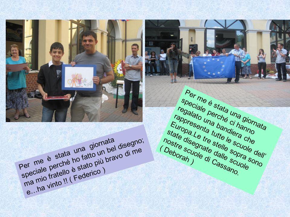 Per noi è stata una giornata bellissima perché abbiamo partecipato al concorso di pittura e fatto tanti giochi.