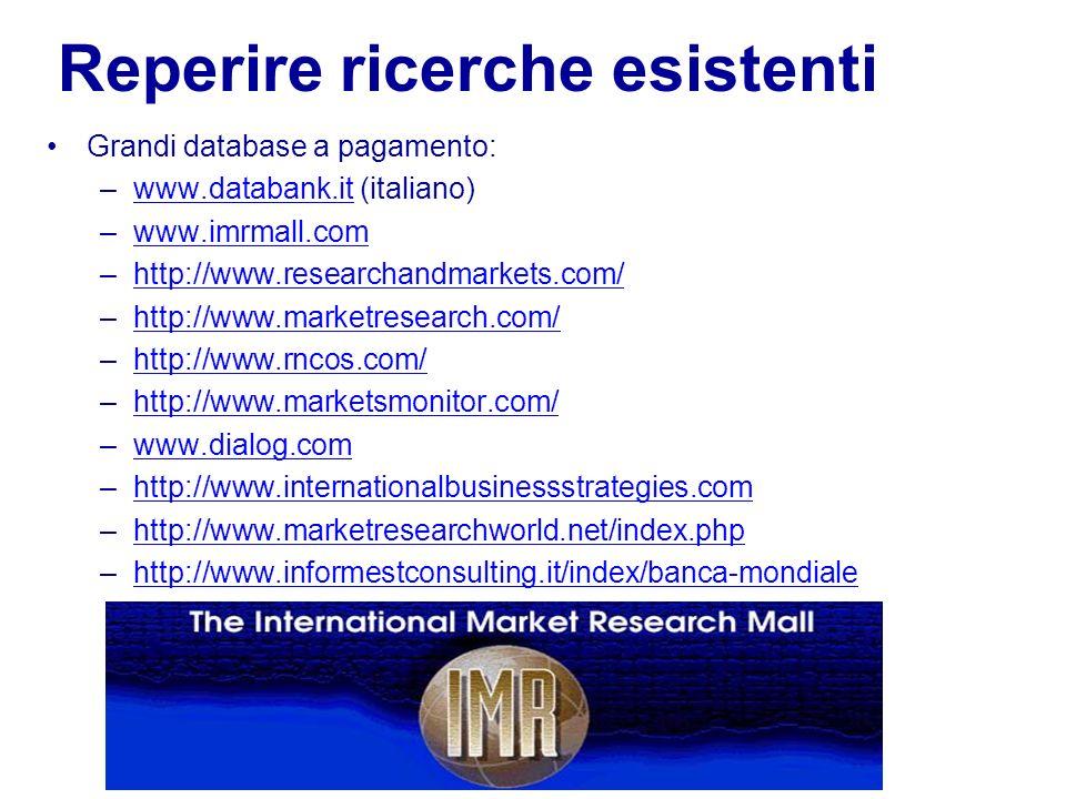 Le ricerche di mercato per lestero 16 Reperire le ricerche Identificare report di ricerca disponibili Acquistare in linea prodotti di ricerca o parti