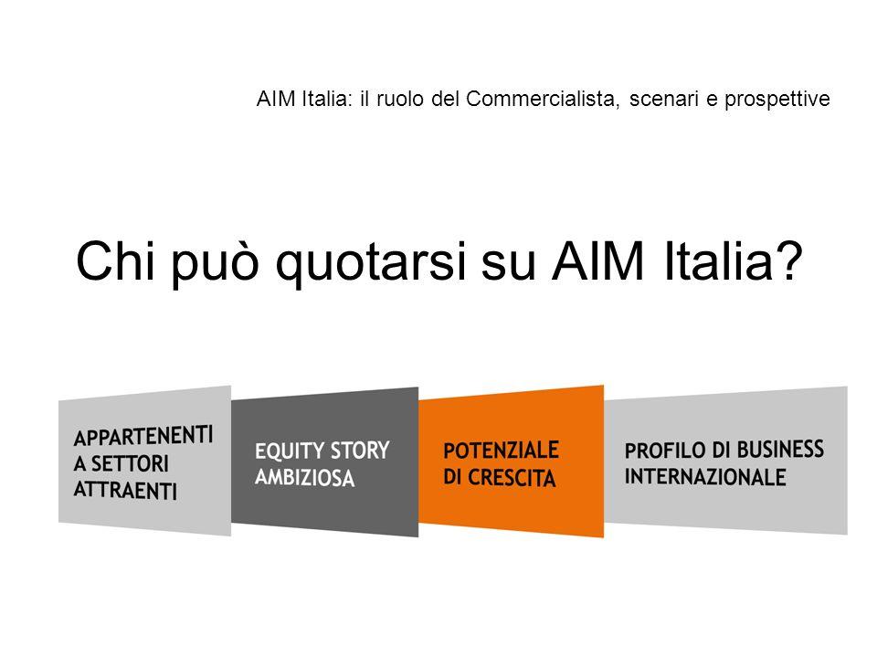 Chi può quotarsi su AIM Italia? AIM Italia: il ruolo del Commercialista, scenari e prospettive