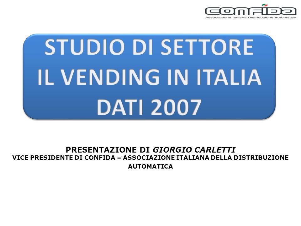 PRESENTAZIONE DI GIORGIO CARLETTI VICE PRESIDENTE DI CONFIDA – ASSOCIAZIONE ITALIANA DELLA DISTRIBUZIONE AUTOMATICA