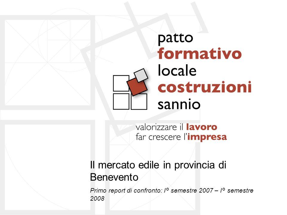Il mercato edile in provincia di Benevento Primo report di confronto: I° semestre 2007 – I° semestre 2008