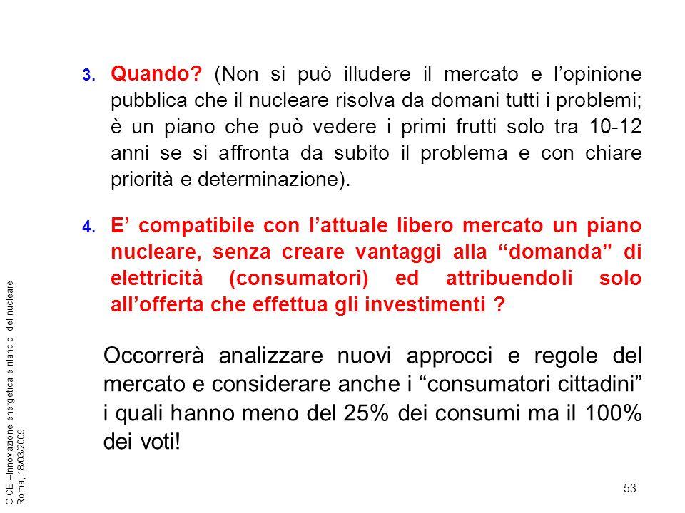 53 OICE –Innovazione energetica e rilancio del nucleare Roma, 18/03/2009 3.