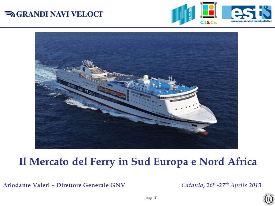 pag. 1 Ariodante Valeri – Direttore Generale GNV Catania, 26 th -27 th Aprile 2013 Il Mercato del Ferry in Sud Europa e Nord Africa