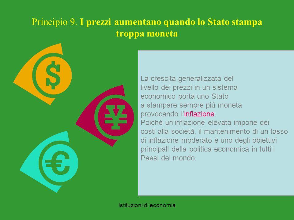Istituzioni di economia Principio 9.