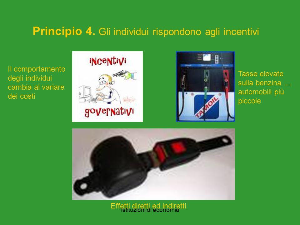 Istituzioni di economia Principio 4.