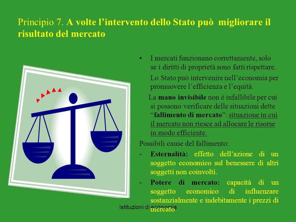 Istituzioni di economia Principio 7.
