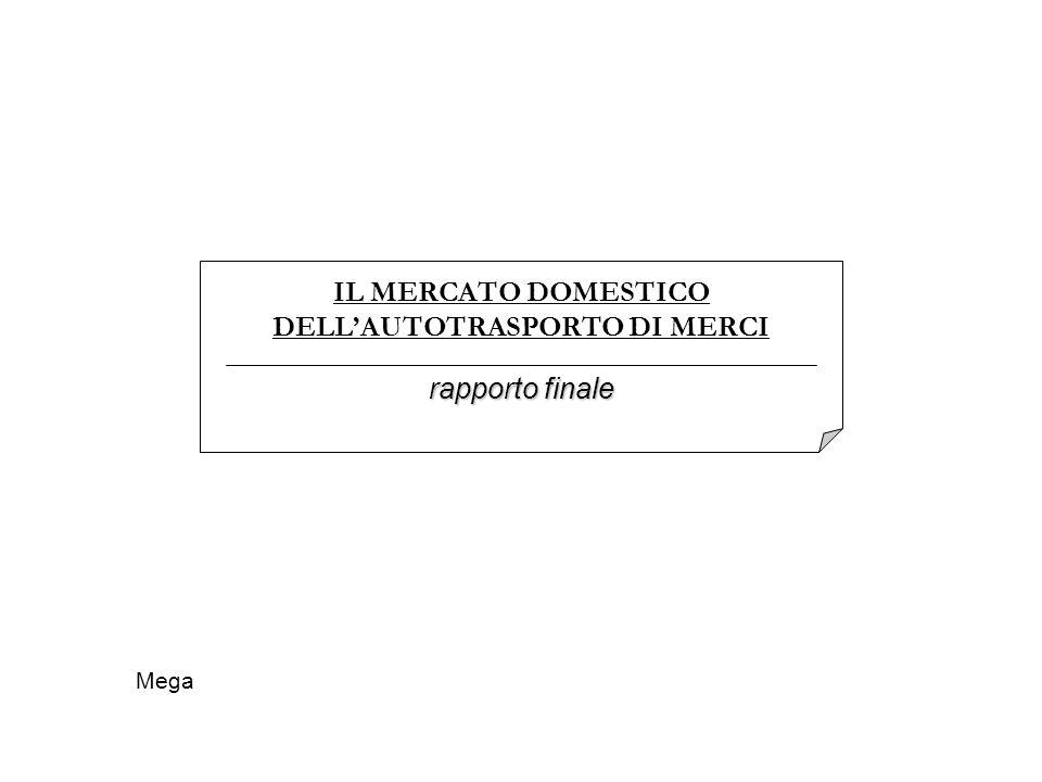 IL MERCATO DOMESTICO DELLAUTOTRASPORTO DI MERCI rapporto finale Mega