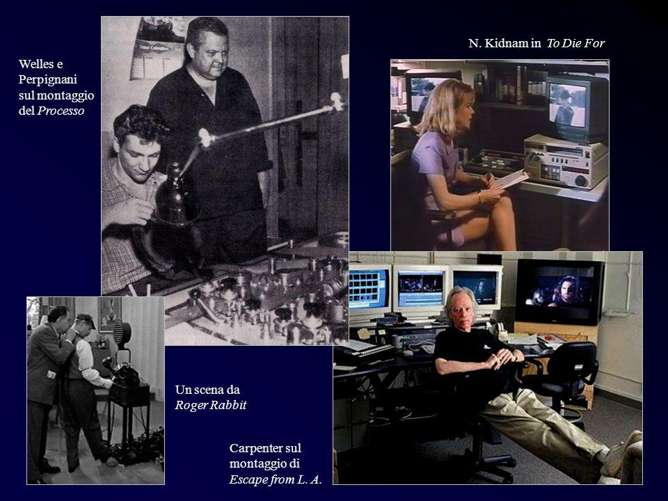 Post 1 Carpenter sul montaggio di Escape from L. A. N. Kidnam in To Die For Welles e Perpignani sul montaggio del Processo N. Kidnam in To Die For Un