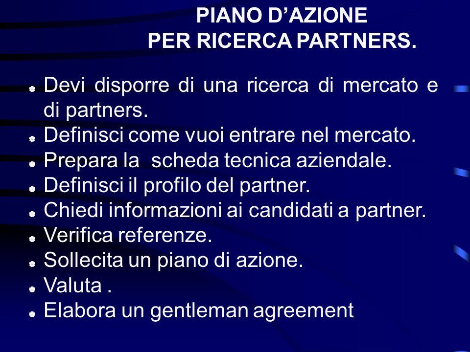Agente. Distributore. Trading. Counter trade ( barter) Alleanza strategica. Internet. Gare dappalto. COME ENTRARE NEL MERCATO.