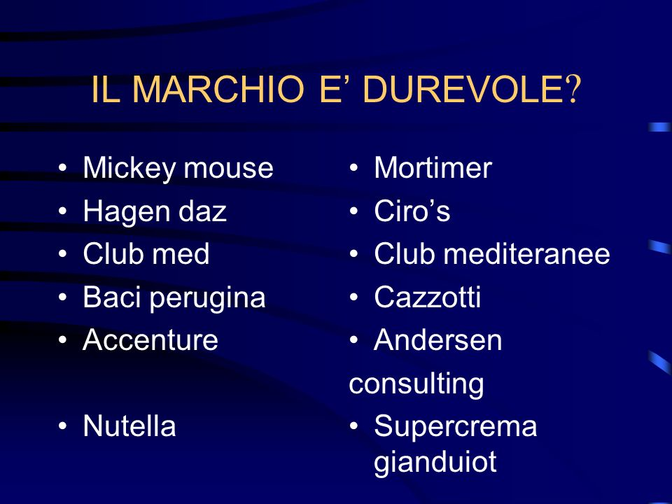 EFFICACIA. Facile da ricordare.