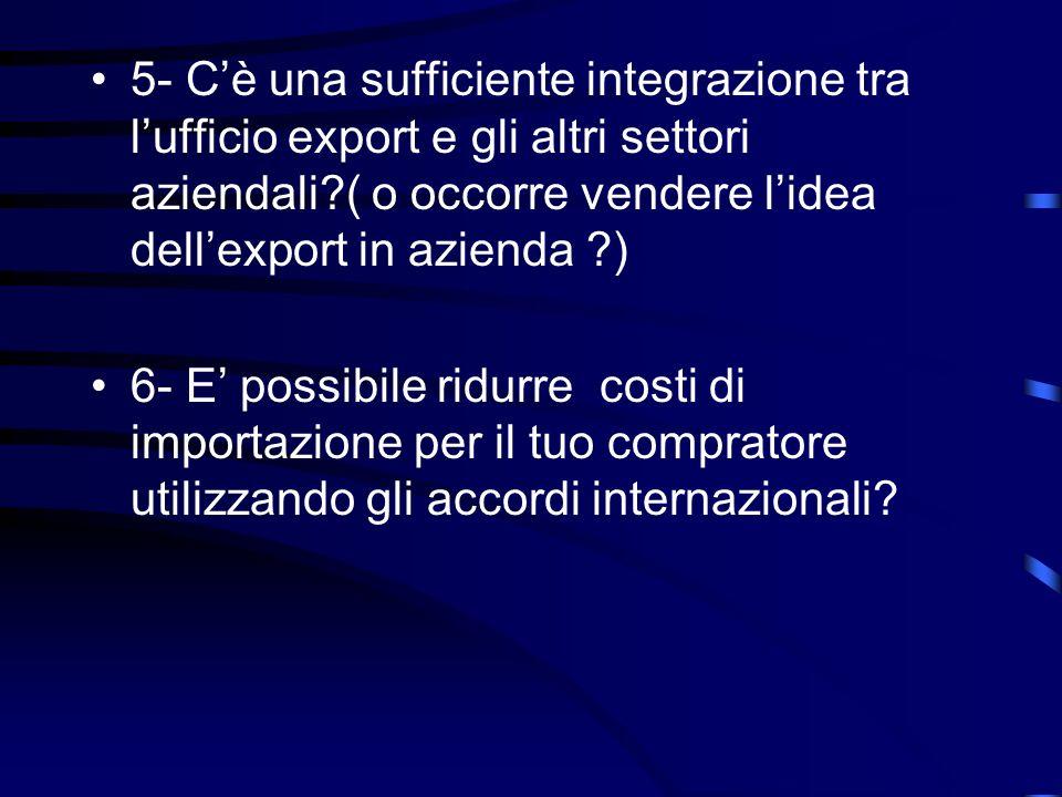 3- E possibile ottimizzare la partecipazione a fiere internazionali.