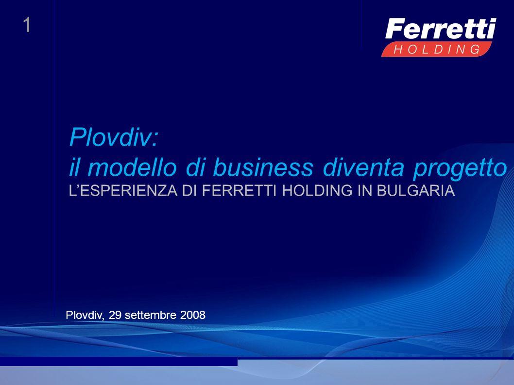 1 Plovdiv: il modello di business diventa progetto LESPERIENZA DI FERRETTI HOLDING IN BULGARIA Plovdiv, 29 settembre 2008
