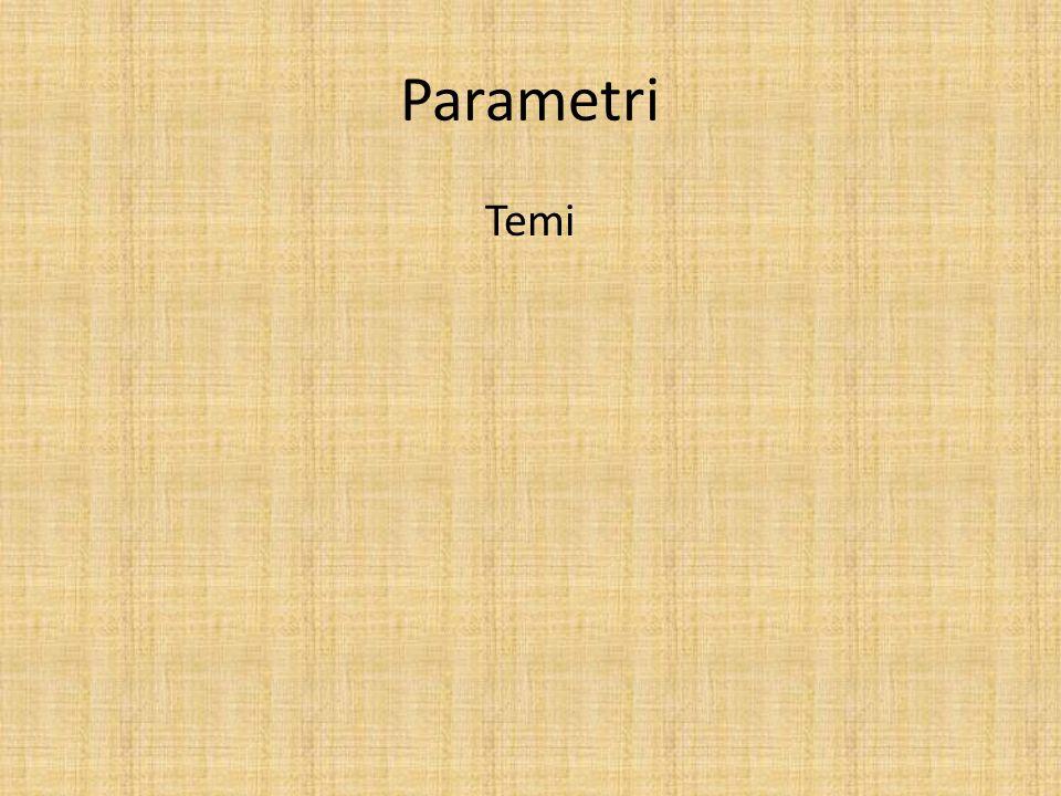Parametri Temi