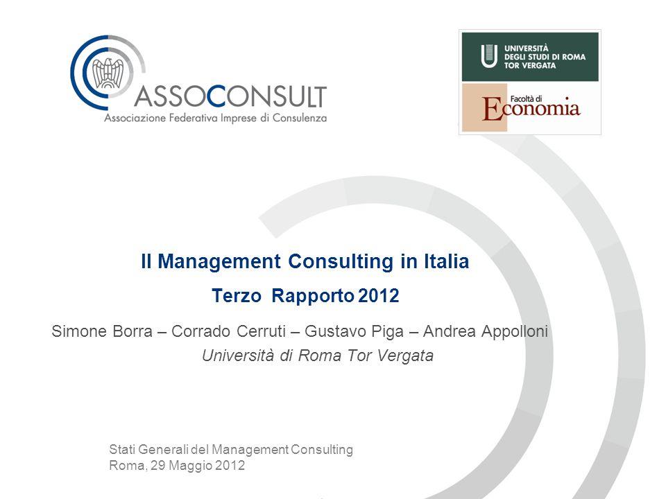 Agenda I.Introduzione II.Il settore del Management Consulting III.