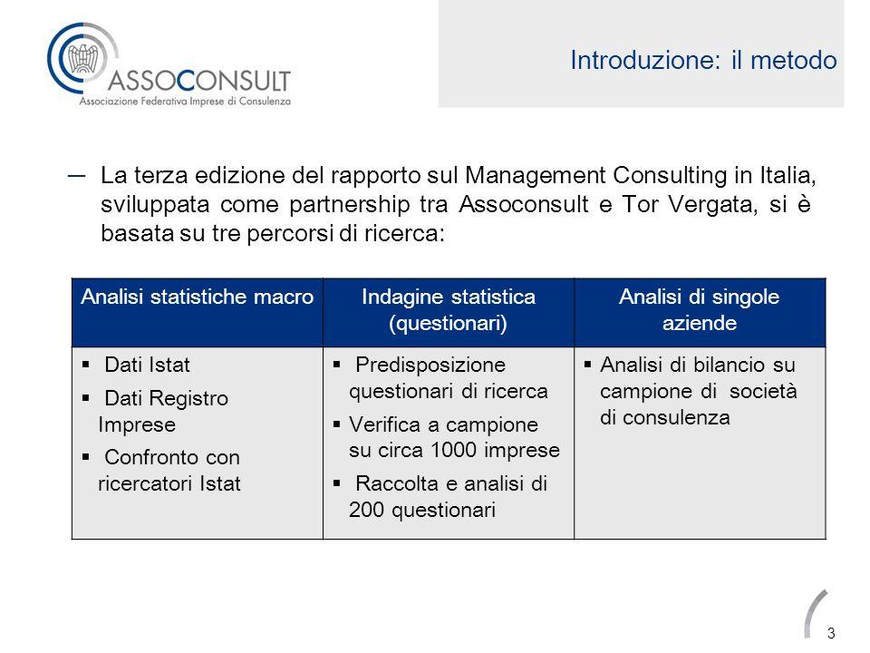 Presenza internazionale La presenza internazionale delle società di MC italiane è cresciuta in maniera distribuita sulle diverse classi dimensionali.